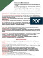 Resume Module Environnement International Tsc Ofppt