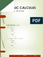 Basic Calculus (Limit Theorems)