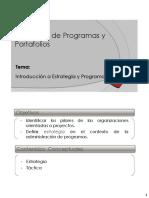 1 Introduccion a La Estrategia y Programas