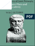The Later Plato and the Academy - Guthrie