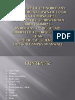 Assignment of Ethnobotany