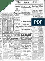1893 - New York NY Sun 1893 Jun-Nov Grayscale - 1438 - [Logo Used by Gann]