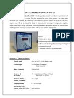 RPM-8 PF Manual