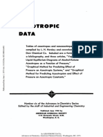 Azeotropic Data, ACS, 1952