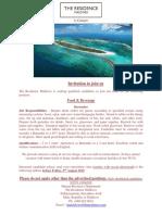 Job Advert - 28 July 19 Job Maldives