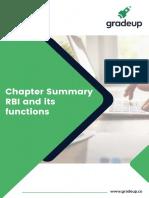 RBI FUNCTIONS LIST