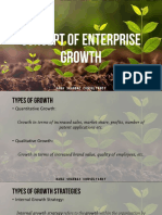 Concept of Enterprise Growth