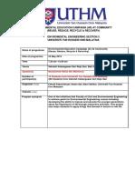Activity Report SK Seri Rejo Sari G8