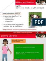 Describing Habits and Routines Student Guide
