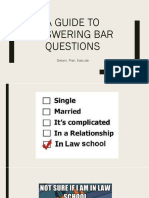 A Guide To Answering Bar Questions