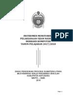 Instrumen Monitoring Unbk 2017