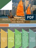 Jose Rizal's Trip to Hong Kong and Macau