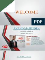 Anand Mahindra Ppt