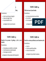 IELTS Topic Cards 4