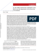 2015 Singh Limits of Imagination the 150th Anniversary of Mendels Laws and Why Mendel Failed to See the Importance of His Discovery for Darwin Theory of Evolution