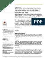 LI,QIAN Efektivitas Protokol Makan Enteral Pada Hasil Klinis Pada Pasien Sakit Kritis a Sebelum Dan Sesudah Studi
