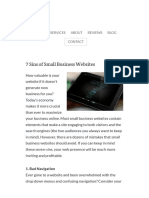 7 Sins of Small Business Websites