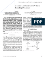 Simulation and Model Verification of a Vehicle Handling Dynamics