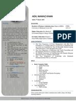 Adil Nawaz Khan CV