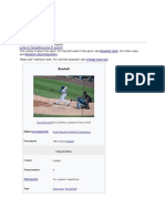 Baseball History, Origin, Common Techniques and Practices