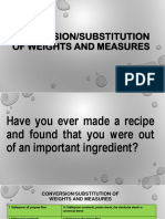 Conversion/Substitution of Ingredients