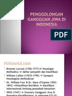 Penggolongan Gangguan Jiwa Di Indonesia
