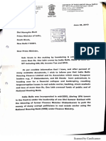 Subramanian Swamy's Letter to PM on India Bulls Scams June 2019