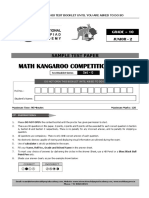 8565 Grade 10 Math Kangaroo Sample Paper -2019