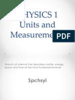 I Units and Measurements Studver 1