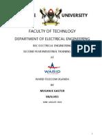 Warid Telecom Uganda Internship Report 2010-Musanje Gaster