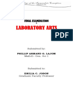 Lab Arts Exam