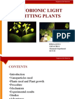 Seminar on light emitting plants