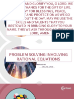 Problem Solving Rational Equations