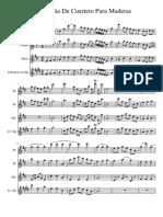 Cuarteto de Madera Score