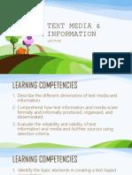 Text Media & Information