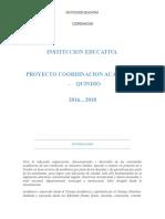 Proyecto 2012-2018 Coordinacion Academica