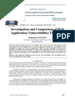 Investigation and Comparison of Web Appl