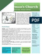 st germans newsletter - 11 august 2019 - trinity 8