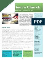 st saviours newsletter - 4 august 2019 - trinity 7