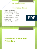 Disorder of purines and pyrimedines
