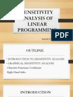 Sensitivity Analysis of Linear Programming