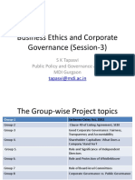 Business Ethics and Corporate Governance (Session-1)