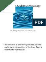 Acid Base Physiology