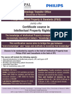 Certificate Course in Intellectual Property Rights