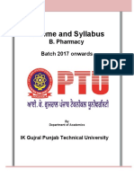 B Pharmacy Syllabus Batch 2017(1)