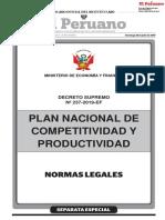 Plan Nacional de Competitividad