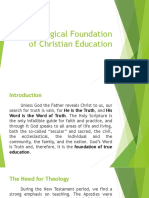 Theological Foundations of CE