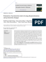 Estimation of Postmortem Interval Using Thanatoche 2