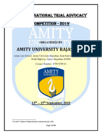 Amity Moot Rules, Regulations and Proposition