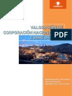 Valoración de Corporación Nacional del Cobre de Chile Codelco